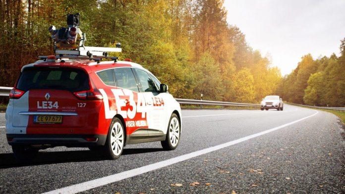 Med Mobile Mapping kan opmåling af en 11 kilometer lang dobbeltsporet vejstrækning, der traditionelt ville have taget to mand mellem 25 og 30 dage at udføre, nu klares på en formiddag. Foto: PR.