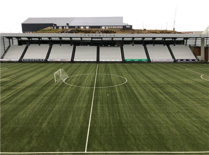 Give Steel leverer stålkonstruktion til stadion på Færøerne.