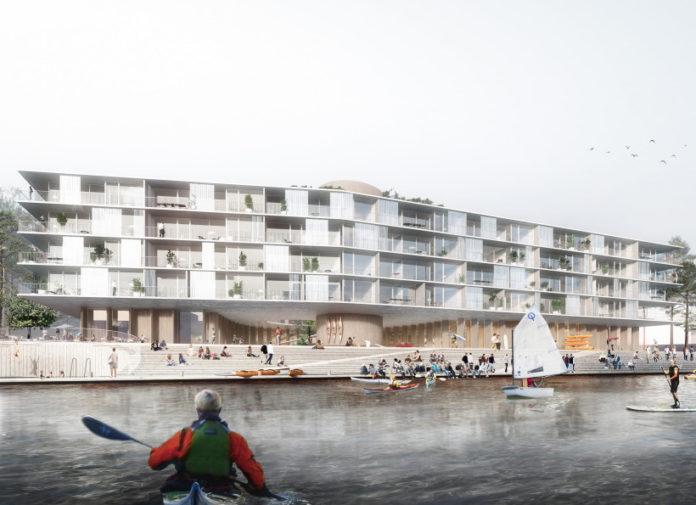 Stubkaj i Nordhavn. Visualisering: Werk.