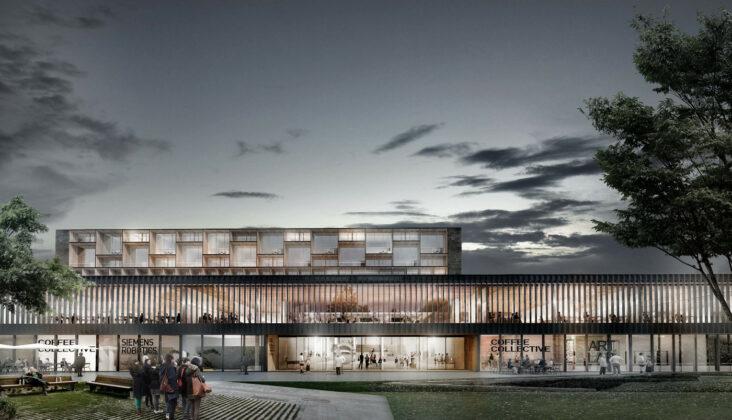 Plan for omdannelse af Haderslev Hospital til hotel. Visualisering: We Architecture.