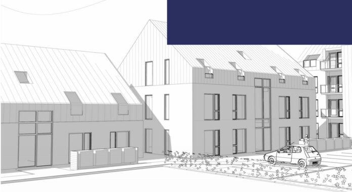 Nye lejligheder på Samsøgade i Horsens er godkendt. Skitse fra lokalplanen.